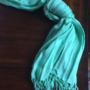 Mint green scarf